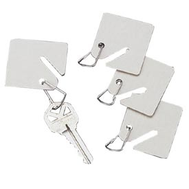 Sandusky Buddy 0016 - 15 White Fiber Key Tags - White - Pkg Qty 12