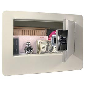"Buddy Double Reinforced Door Wall Safe 3100 - 14-3/8""W x 3-3/4""D x 9""H, Putty"