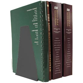 Mirage® Large Bookends - Black - Pkg Qty 12