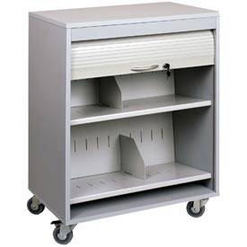 Sandusky Buddy 5424-32 Locking HIPAA Medical Cart - Platinum