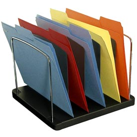 5 Pocket Vertical Desk Tray - Black