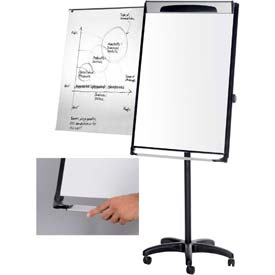"MasterVision Magnetic Dry Erase Mobile Presentation Easel, 29""W x 41""H Board"