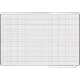 "Magnetic Planning Board - 1x2 Grid - 72""W x 48""H - Steel Surface"
