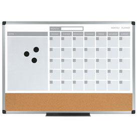 "Calendar Planning Board 36"" x 24"" Aluminum Frame by"