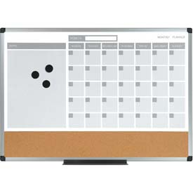 "Calendar Planning Board 18x 24"" Aluminum Frame by"