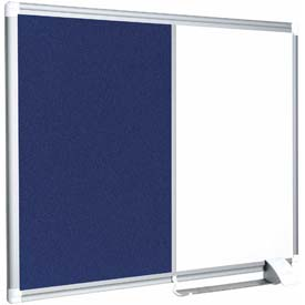 "MasterVision New Generation Magnetic & Felt Board, 24""W x 18""H"