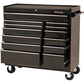 "Blackhawk 94113R 41"" Roller Cabinet, 13 Drawer, Black"