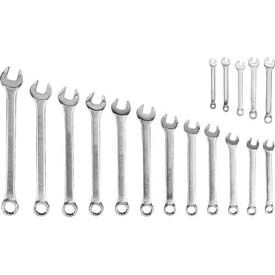 Blackhawk MF-017M 17 Piece Satin Metric Combination Wrench Set, 12 Point by