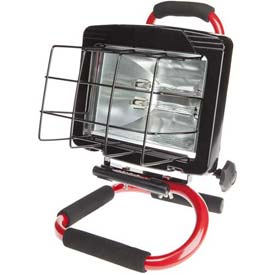 Bayco® Portable Halogen Work Light Sl-1032, 6'L Cord, 18/3 Ga, Red - Pkg Qty 2