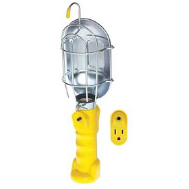 Bayco Standard Trouble Light SL-425A, 25'L Cord, 16/3 Ga, Yellow w/Single outlet on handle Package Count 6 by