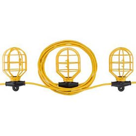 Bayco® Indoor/Outdoor Plastic String Light SL-7408, 100'L Cord, 14/2 GA, Yellow