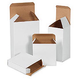 "White Chip Carton 3-5/8"" x 1"" x 3-5/8"" - 1000 Pack"
