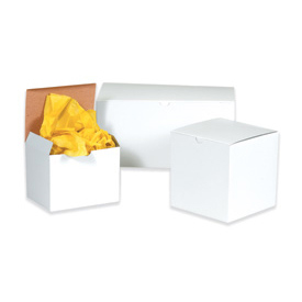 "White Gift Box 8"" x 8"" x 6"" - 50 Pack"