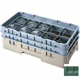 """Cambro 10HS1114119 - Camrack  Glass Rack 10 Compartments, 11-3/4"""" Max. Height, Sherwood Green - Pkg Qty 2"""