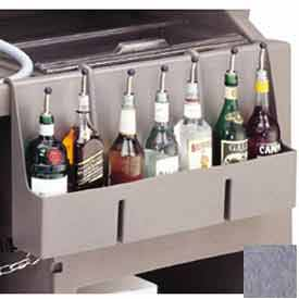 Cambro 730SR191 Speed Rail, 7-bottle, 29x6-1/2x14-5/8, w/built-in partitions, Granite Gray by