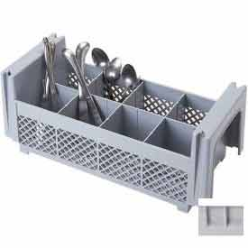 Cambro 8FBNH434151 Flatware Basket, Half Size, 8 Compartments, Polypropylene, Gray Package... by