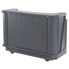 Cambro BAR650CP191 - Mid Size Partially Equipped for Soda Service, Granite Gray