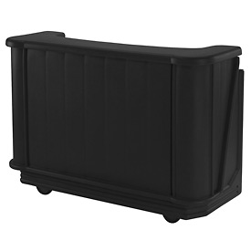 Cambro BAR650PM110 - Mid Size w/Post-mix system Bag-in-box Syrup, Black