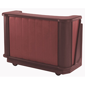 Cambro BAR650PM189 - Mid Size w/Post-mix system Bag-in-box Syrup, Two-Tone Brown/Mahogany
