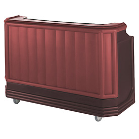 Cambro BAR730PMT189 - Large Size w/Post-mix system Bag-in-box Syrup, Water Tank, Brown/Mahogany