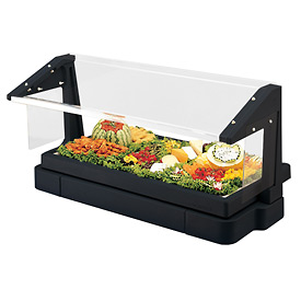 Cambro BBR480110 - Buffet Bar with Sneeze Guard 24 x 48, Black