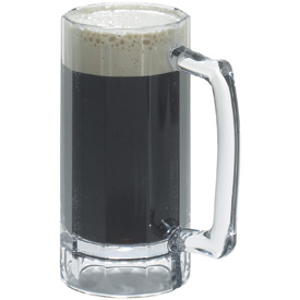 Cambro BWB16CW135 Barware Beer Mug 16 Oz., Clear Package Count 12 by