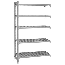 Camshelving® Add-On Unit - 5 Vented Shelves 24x48x64