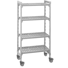 Cambro Premium Mobile Shelf Truck CSUR44487480 - 4 Vented Shelves 24x48x75