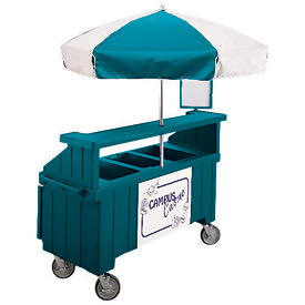 "Cambro CVC72192 - Camcruiser Vending Cart, 1 full size pan, 6"" deep, Granite Green"