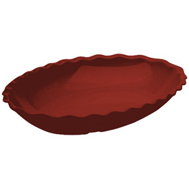 Cambro DP15404 Deli Platter Oval 15x12, Red Package Count 6 by