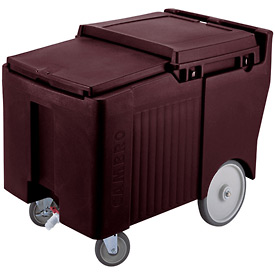 Cambro ICS125LB131 - Ice Caddy, Dark Brown, 125 Lbs. Cap., 4 Swivel, 1 with Brake