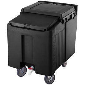 Cambro ICS175L110 - Ice Caddy, Black, 175 Lbs. Cap., Short, 2 Fixed, 2 Swivel, 1 with Brake