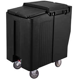 Cambro ICS175T110 - Ice Caddy, Black, 175 Lbs. Cap., Tall, 2 Fixed, 2 Swivel, 1 with Brake