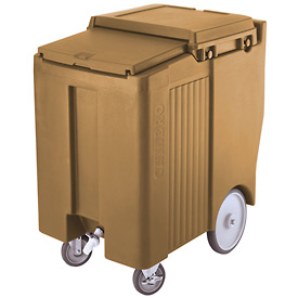 "Cambro ICS175TB157 - Ice Caddy, Beige, 175lbs. Cap, Tall, 2 Swivel, 1 w/Brake, 2, 10"" Easy Wheels"