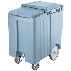 "Cambro ICS175TB401 - Ice Caddy, Blue, 175lbs. Cap, Tall, 2 Swivel, 1 w/Brake, 2, 10"" Easy Wheels"