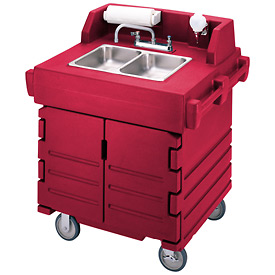 Cambro KSC402158 Camkiosk Hand Sink Cart, Hot Red by