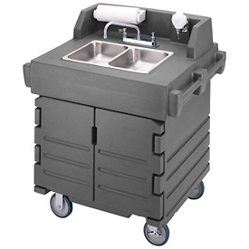 Cambro KSC402191 Camkiosk Hand Sink Cart, Granite Gray by