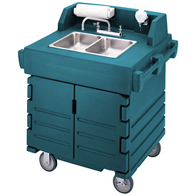 Cambro KSC402192 Camkiosk Hand Sink Cart, Granite Green by