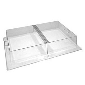 "Cambro RD1826CWH135 - Display Rectangular Cover with Hinge 18"" x 26"", Clear"