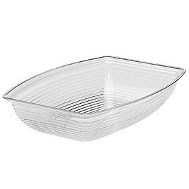 "Cambro RSB1014CW135 - Bowl Ribbed Camwear Rectangular 10"" x 14"", Clear - Pkg Qty 4"