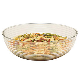 """Cambro RSB18CW135 - Bowl Ribbed Camwear Round 18"""", Clear - Pkg Qty 4"""