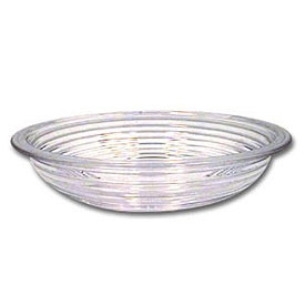 "Cambro RSB6CW135 - Bowl Ribbed Camwear Round 6"", Clear - Pkg Qty 12"