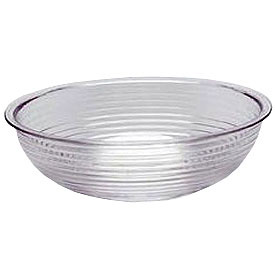 "Cambro RSB8CW135 - Bowl Ribbed Camwear Round 8"", Clear - Pkg Qty 12"