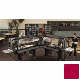 "Cambro VBRHD6158 - Versa Food Bars™Serving Buffet, Cold Food, 72"" x 36"" Hot Red"