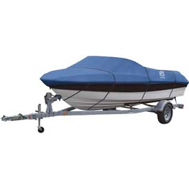 "Classic Accessories Stellex Boat Cover 14' - 16', 90"" Beam Blue - 20-146-090501-00"