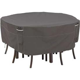 Classic Accessories Patio Table & Chair Set Cover Ravenna Series, Round, Large - 55-158-045101-EC