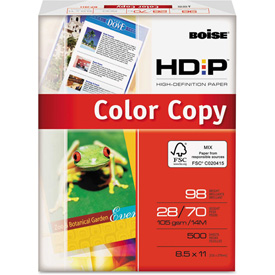"Boise Polaris Color Copy Paper BCP2811, 8-1/2"" x 11"", White, 500 Sheets/Ream by"