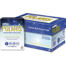 "Boise POLARIS 3-Hole Punched Copy Paper POL8511P, 8-1/2"" x 11"", White,5,000 Sheets/Ctn by"