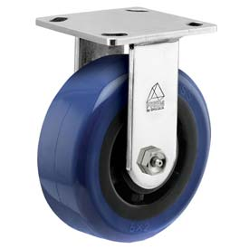 "Bassick Prism Stainless Steel Rigid Caster Eagle Urethane 4"" Dia. by"