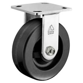"Bassick Prism Stainless Steel Rigid Caster Phenolic 4"" Dia. by"